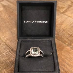 David Yurman Petite Albion Prasiolite Ring